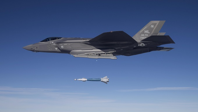 Hill's F-35s drop first weapons